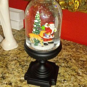 Winter Lane Other - 1023 Winter Lane Musical Santa/Reindeer Snowglobe